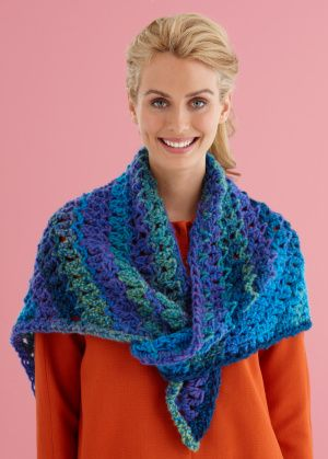 Easy Lace Triangle Shawl http://www.lionbrand.com/patterns/L20320 ...