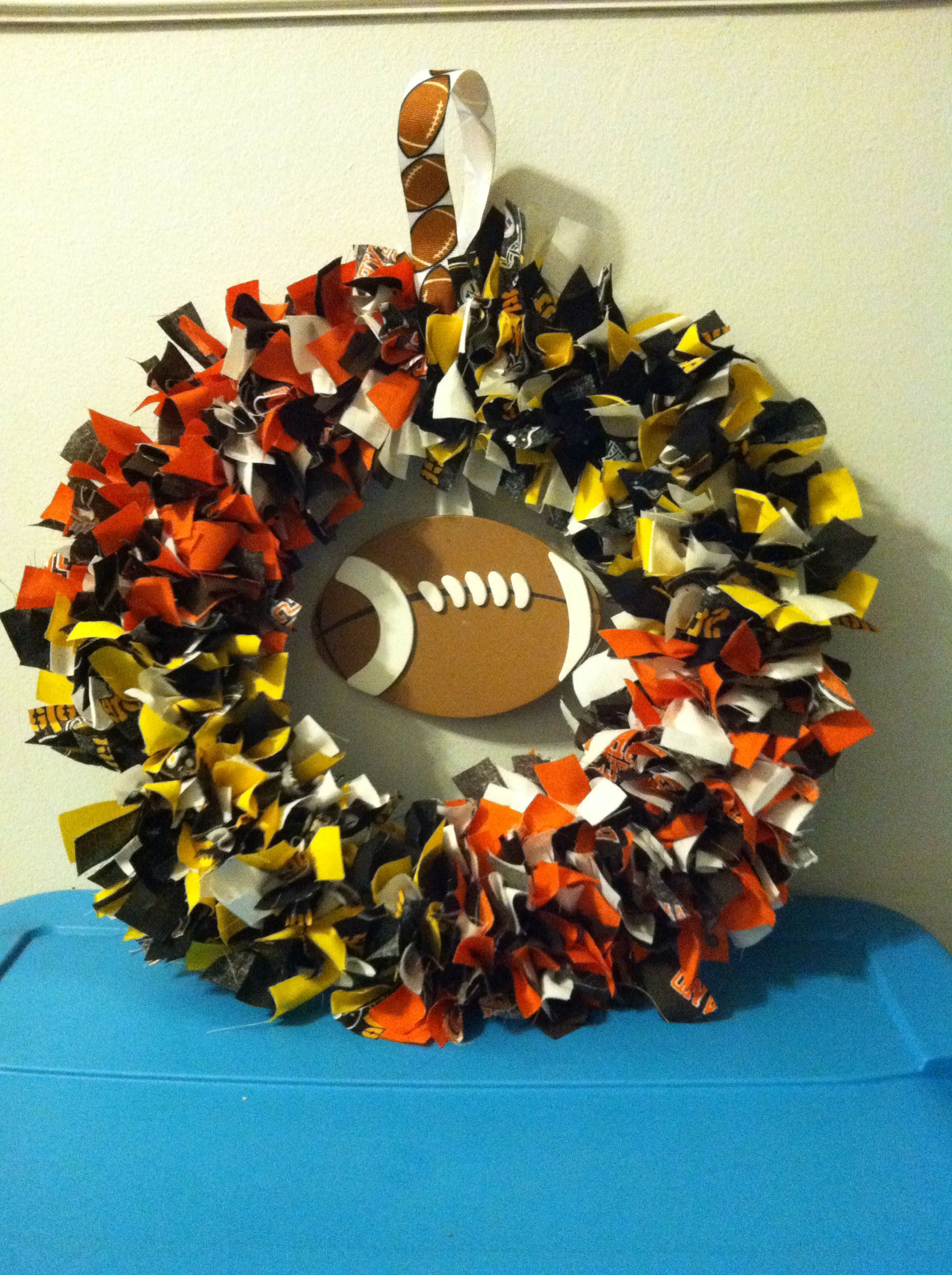 House divided Cleveland Browns and Pittsburgh Steelers