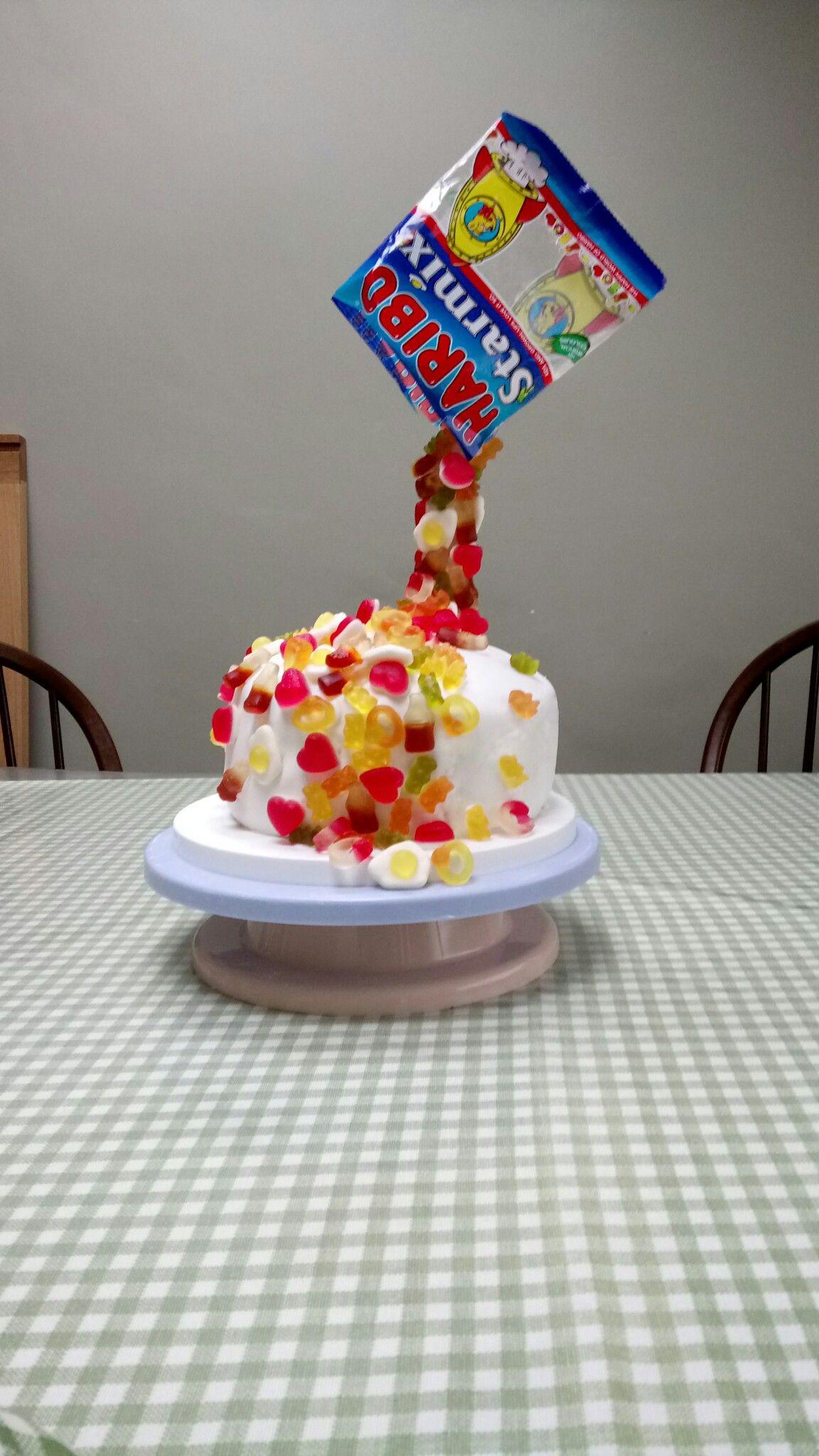 Haribo Anti Gravity Cake Food In 2019 Haribo Birthday
