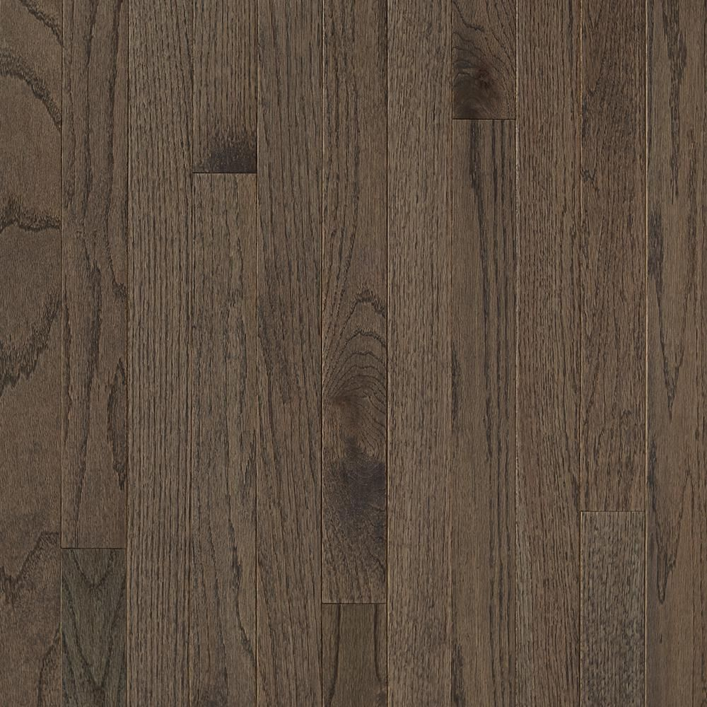 Bruce Plano Oak Gray 3 4 In Thick X 2 1 4 In Wide X Varying Length Solid Hardwood Flooring 20 Sq Ft Solid Hardwood Floors Hardwood Floors Solid Hardwood