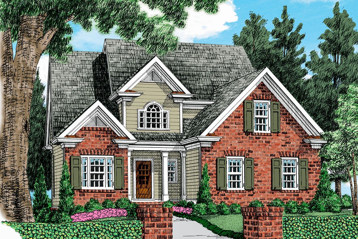 Plan 710055btz 3 Bed Open Concept Traditional House Plan Cottage House Plans House Plans Farmhouse Cottage House Designs