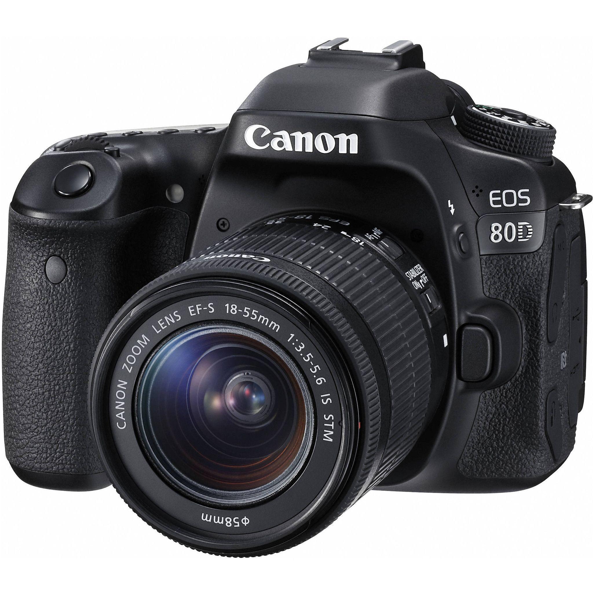 Canon Eos 80d Ef S 18 55mm Is Stm Kit 1263c005 Highlights 24 2mp Aps C Cmos Sensor Digic 6 Image Processor Canon Dslr Canon Camera Models Dslr Camera
