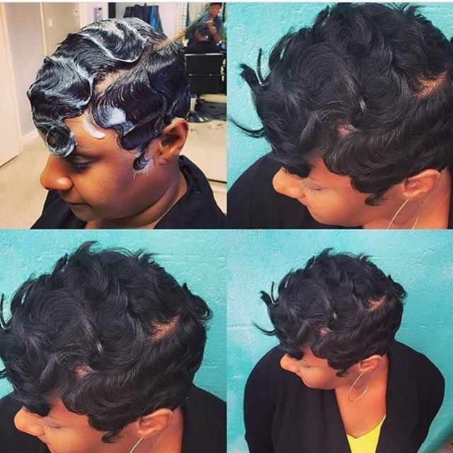 Love The Wave Action On This Pixie Nchairstudio Voiceofhair Waves