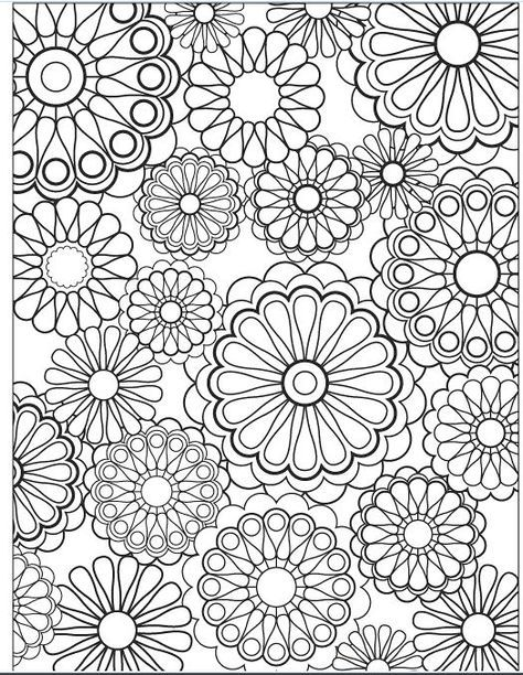 this makes me think of my old spirograph set flower coloring page by jenean morrison