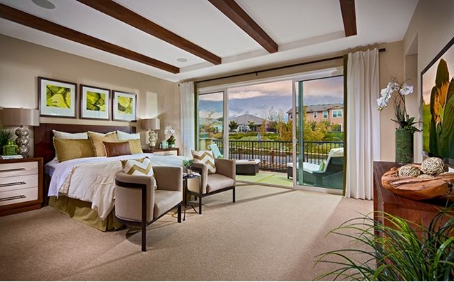The master bedroom is the perfect retreat with a spa ...