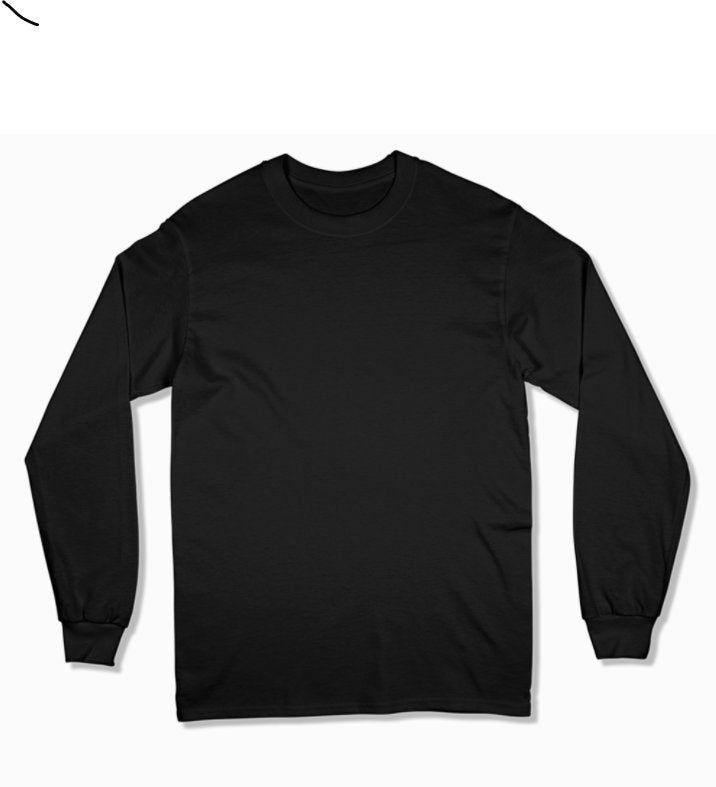 Gildan 2400 Long Sleeve Unisex Mockup Fall T Shirt Mockups Styled Mockups Jpeg Mockup Flat Lay Modern Mockup Transparent Png Background T Shirt Png Sleeves Long Sleeve