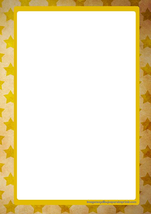 Papel con borde de estrellas para escribir, en varios colores ¡Elige ...