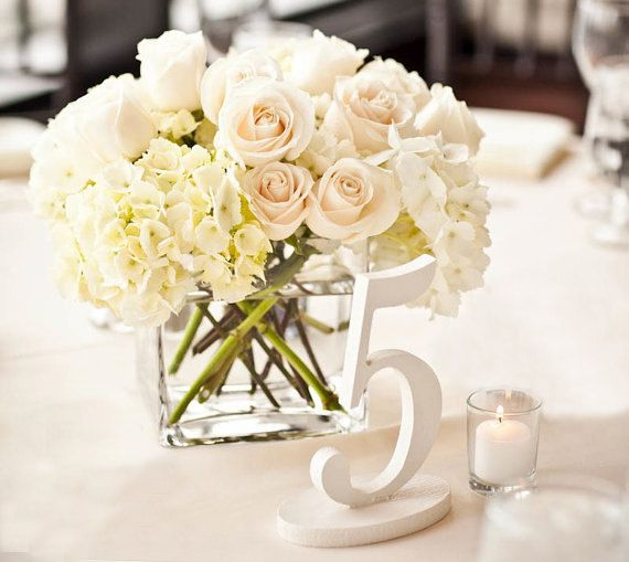 Antique White Wedding Table Numbers