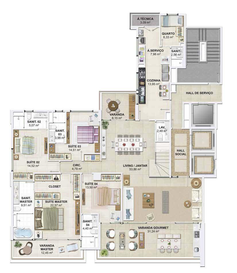 D Azur Apartamentos De Luxo 4 Quartos A Venda Em Salvador Em 2020