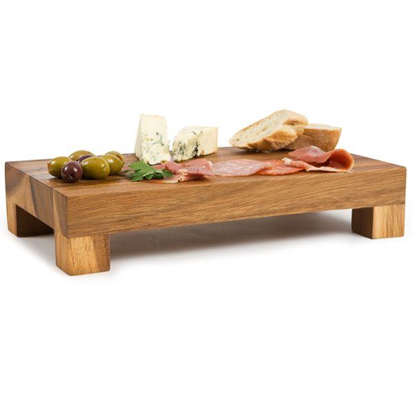 Acacia Rectangular Display Block 375 X 21cm Wooden Serving Board