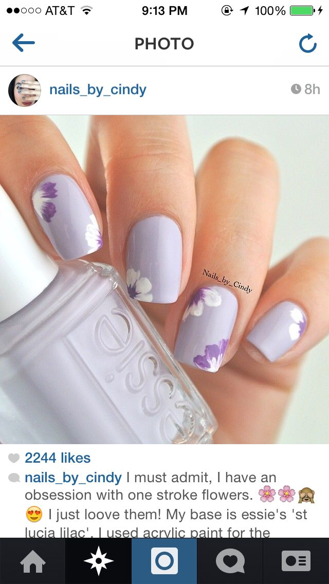 Lavender colored nails nails pinterest lavender color and love this look simple clean nails great for spring nails do it yourself nails purple lavender beautiful solutioingenieria Images