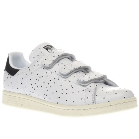 womens adidas white & black stan smith comfort dots trainers