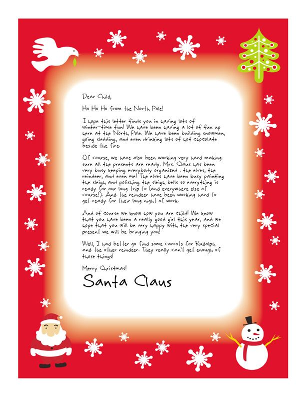 image about Printable Letters From Santa Claus identify Uncomplicated No cost Letter versus Santa Magical Deal Merry