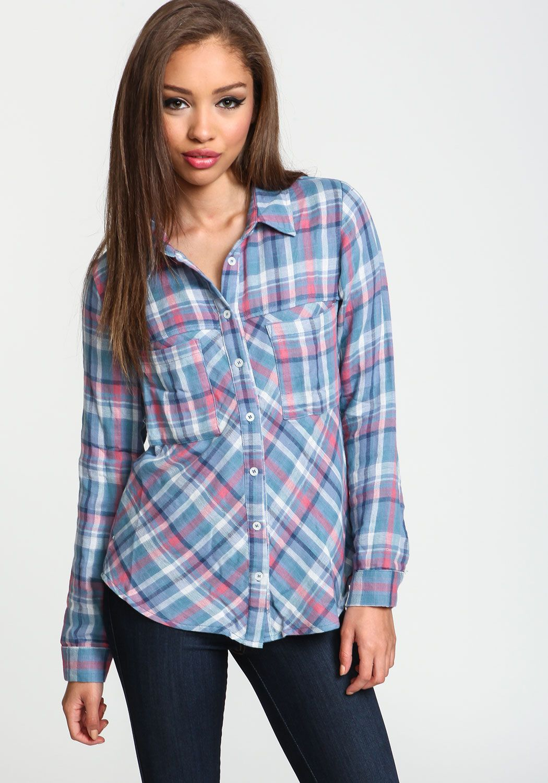4505ab409767a Pink Pastel Plaid Shirt - Love Culture | J's | Plaid, Junior outfits ...