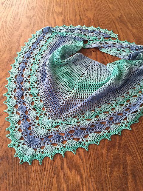 Resultado de imagen de bufanda triangular a crochet ravelry | şal ...