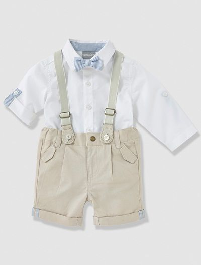 c8be66c949b66 Ensemble de cérémonie bébé garçon 3 pièces Blanc - vertbaudet enfant ...