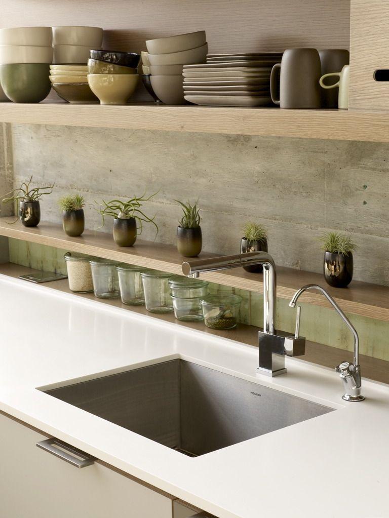 Kitchen Backsplash Shelves 40 awesome kitchen backsplash ideas | concrete, shelves and kitchens