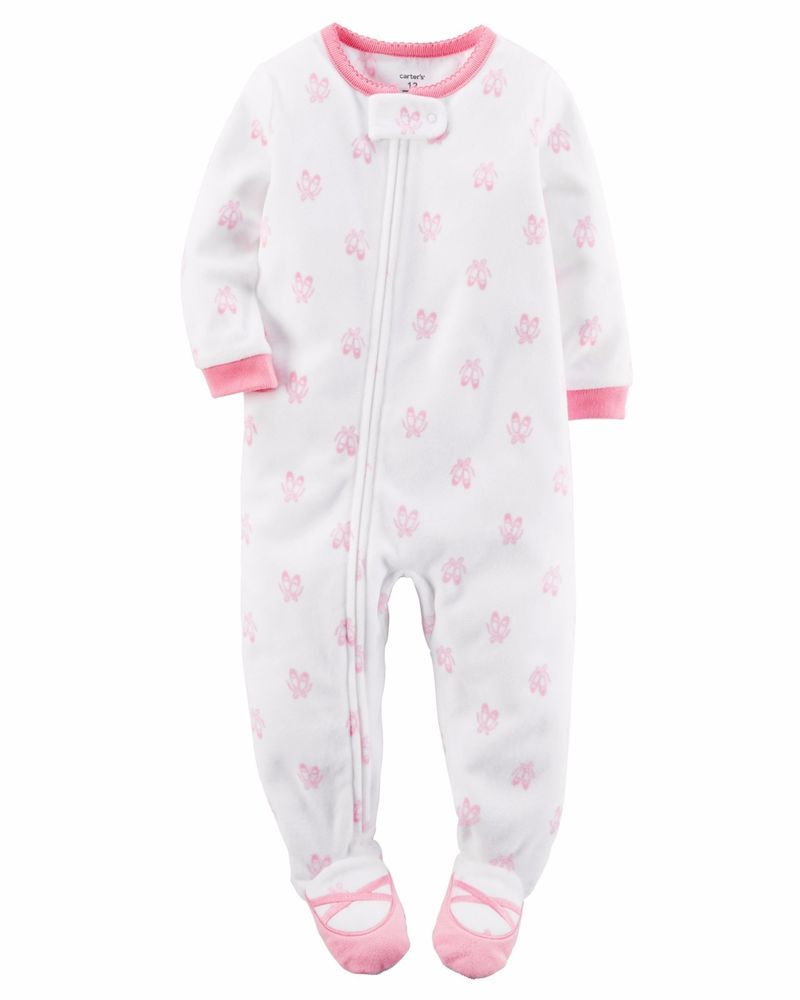 8fefc621b Details about Ballerina Footed One Piece Fleece Pajamas Carter s ...