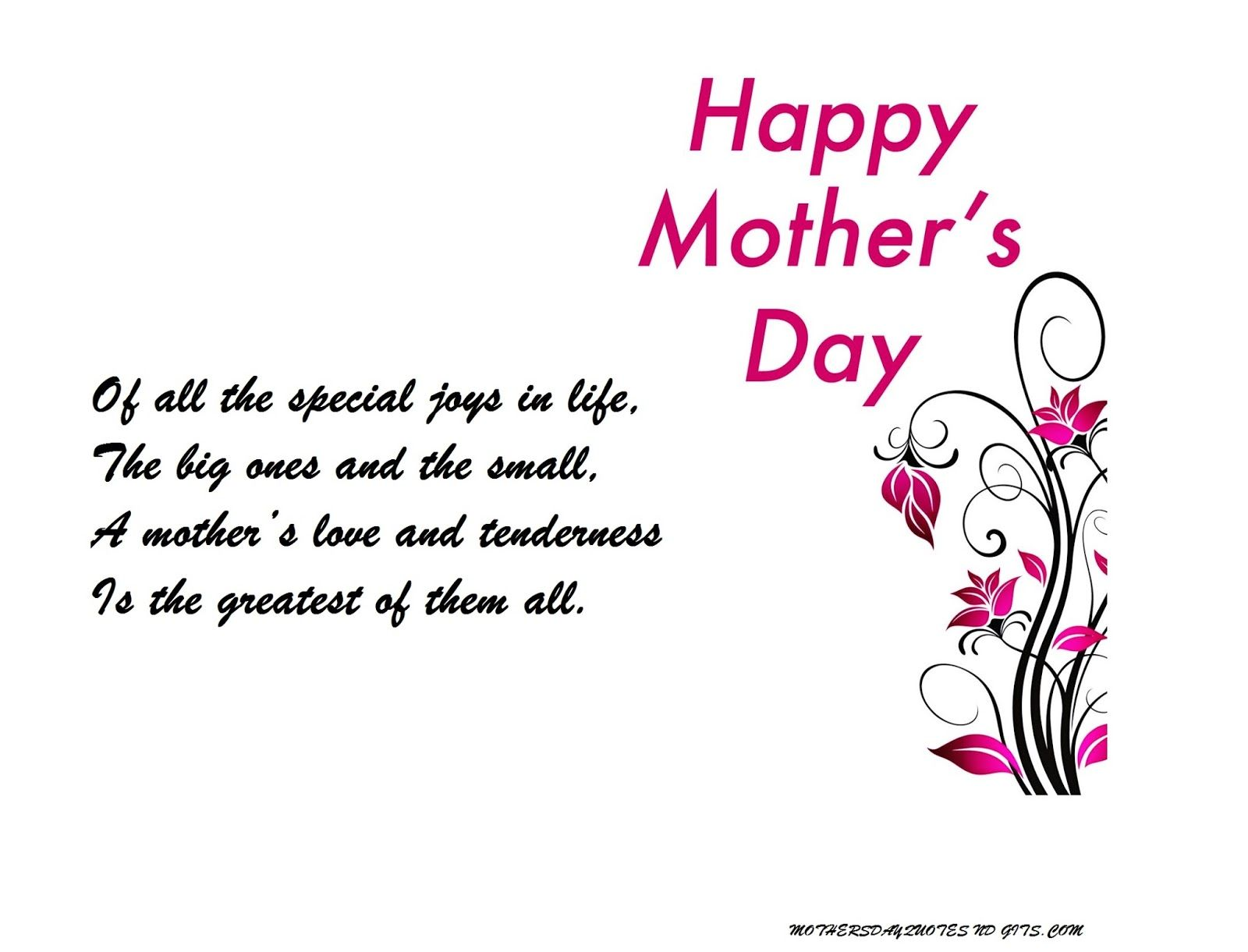Best Short Poems On Mothers Day For Sons And Daughters