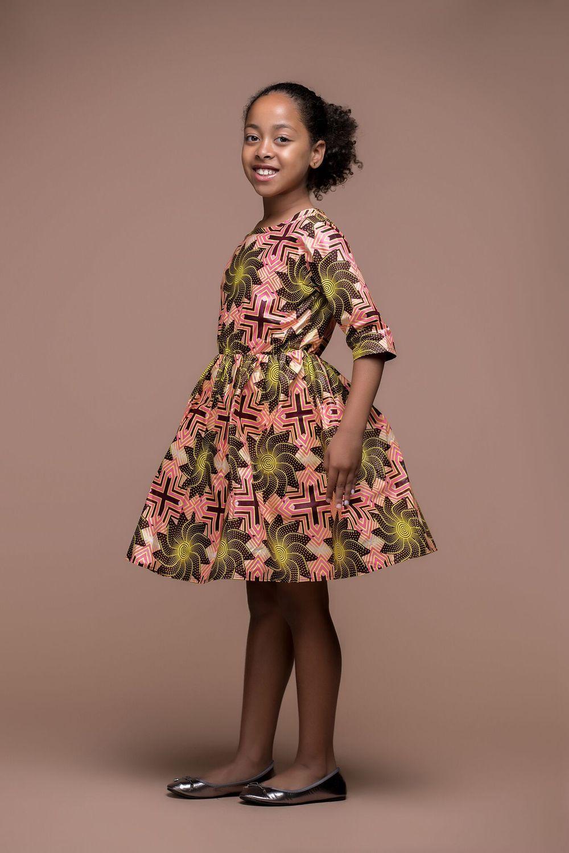 African Print Pokoo Kid S Dress In 2019 Kids Fashion