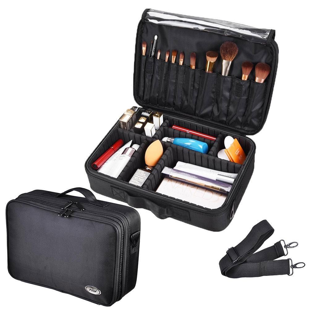 Thelashop 13x9x4 1200d Oxford Makeup Bag Train Case Organizer Makeup Bag Training Bags Makeup Train Case