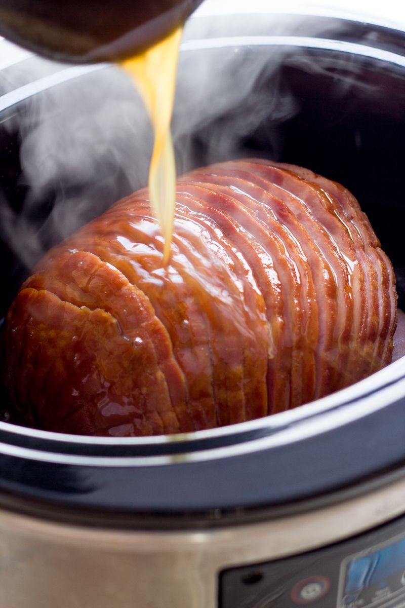 slow cooker ham with honey mustard glaze recipe honey. Black Bedroom Furniture Sets. Home Design Ideas