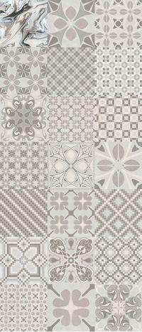 Carrelage Imitation Anciens Carreaux De Ciment Decor Gris 20x20 Cm