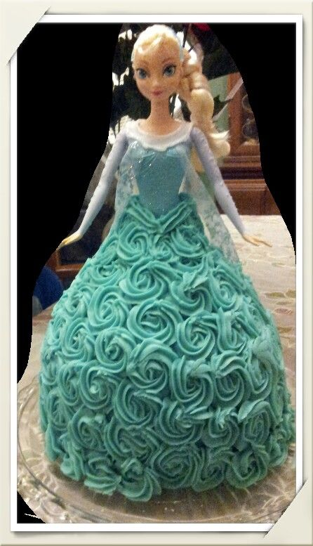Disney frozen rosett elsa doll cake food Pinterest Elsa doll
