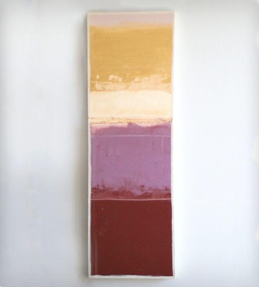 Color Block Painting Purple Gold Lavender Rust Art Pieces