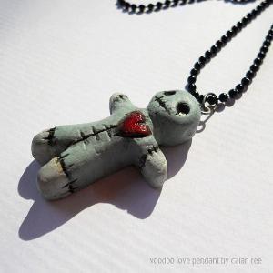 Voodoo dummy necklace