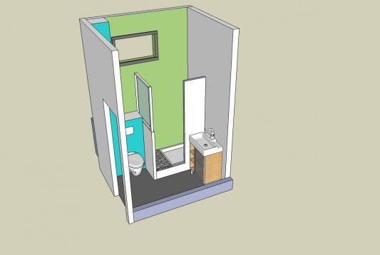 salle de bain petite surface 2m2 - Recherche Google | Buanderie ...