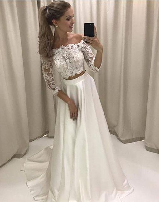 Off White Long Dresses Cheap