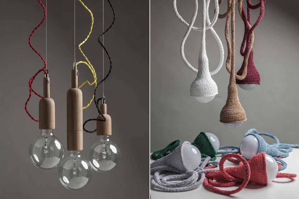 Los diseños de lámparas más novedosos  Algunas de las creaciones de Magalí Suchowolski y Sebastián Lupis.
