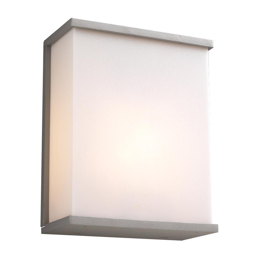 Plc lighting slgu pinero light inch silver outdoor