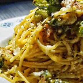 Pasta Carbonara mit Rosenkohl   Rezept mit Video   Kitchen Stories