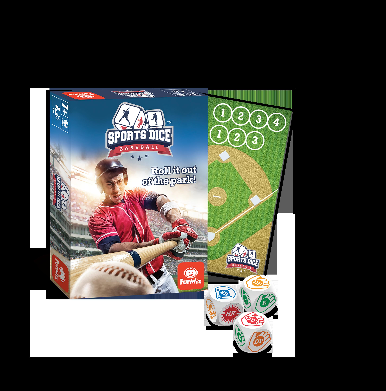 Sports Dice Baseball, Sports Board Game, 7+, 24 players