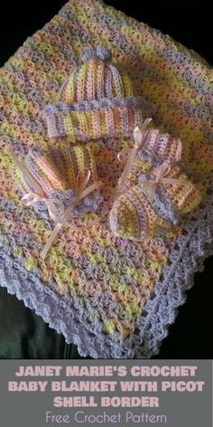 Janet Marie S Baby Blanket With Picot Shell Border Free