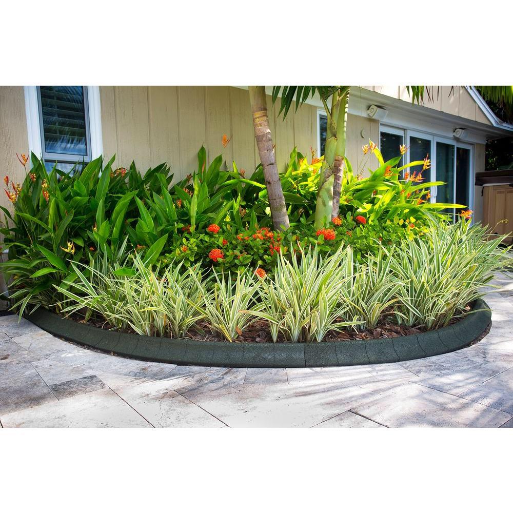 Ecoborder 4 Ft Black Rubber Curb Landscape Edging 4 Pack 640 x 480