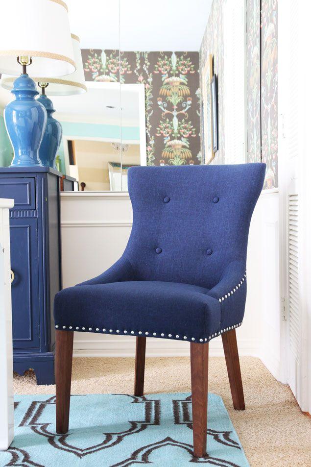 Jcpenney Dining Room Chairs Red Desk Chair Modern Update Jonathan Adler For Happy Chic Home Bleecker In Navy Www Pencilshavingsstudio Com