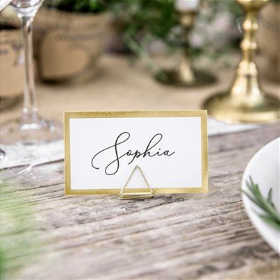 Gold Wedding Party Supplies Party Delights Bordkort