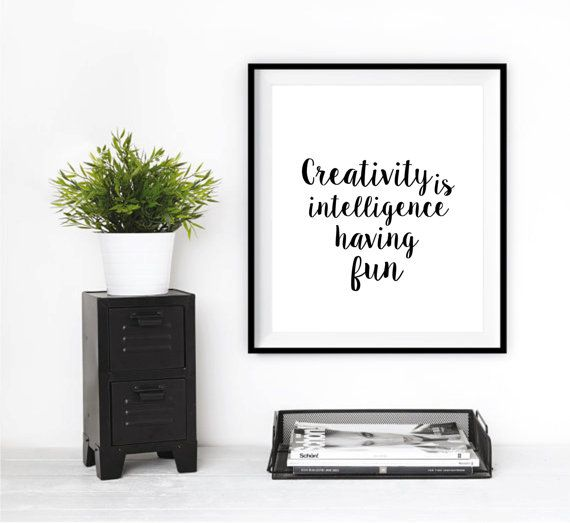 Inspirational quote Typographic Print Office Art by mixarthouse