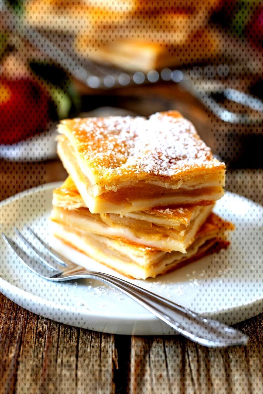 Gedeckter Apfelkuchen Rezept - Einfaches Rezept für einen gedeckten Apfelkuchen aus Topfenteig vom