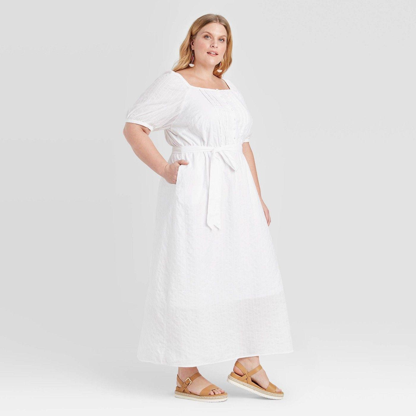 Women S Plus Size Short Sleeve Textured Button Front Maxi Dress Ava Viv White Sponsored Slee Button Front Maxi Dress Maxi Dress Women S Plus Size Shorts [ 1400 x 1400 Pixel ]