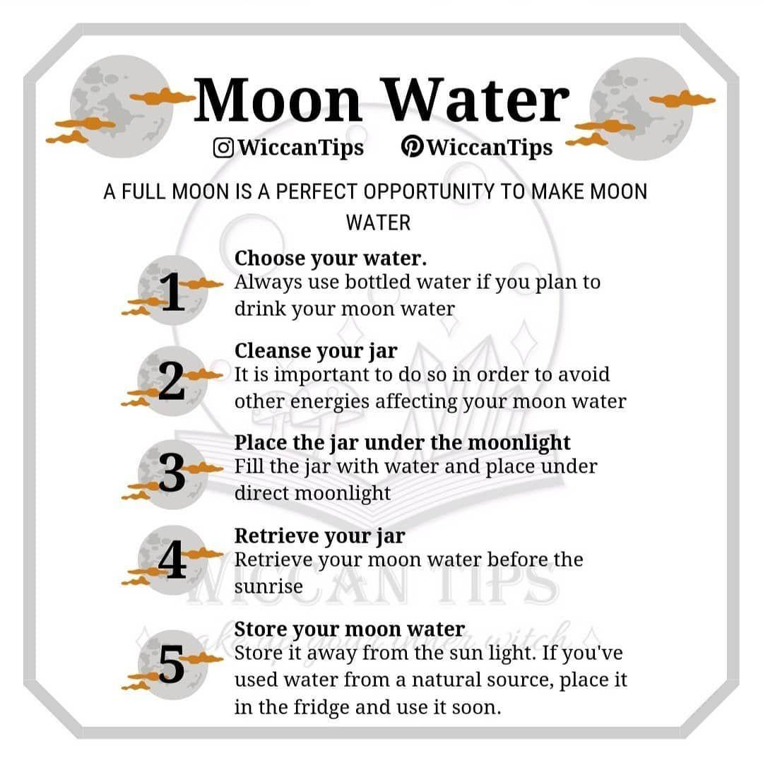 """ωιccαη ωιтcн on Instagram: """"Have you ever made moon water? Tonight is a perfect opportunity to make some moon water charged with the super snow moon! Read more about…"""""""