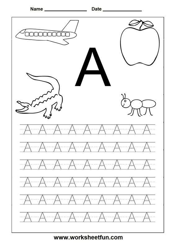 Worksheetfun Free Printable Worksheets Alphabet Worksheets Free Alphabet Tracing Worksheets Handwriting Worksheets Preschool letter tracing worksheets
