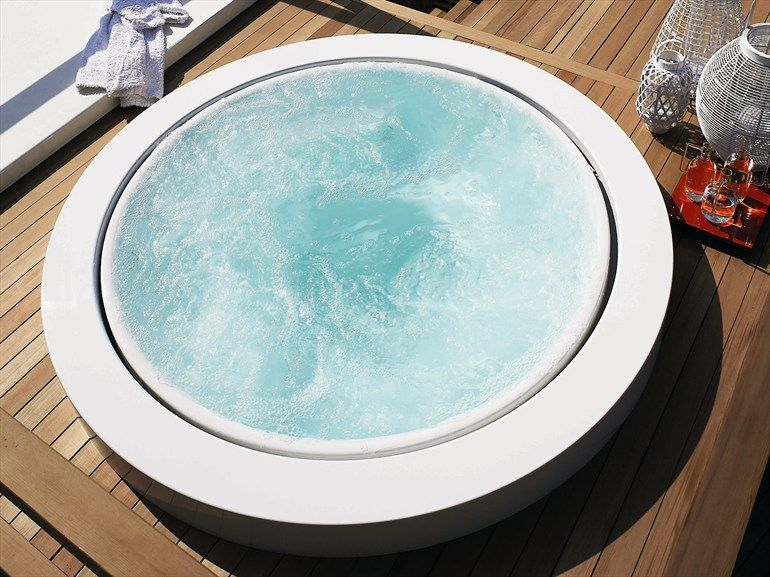 Whirlpool Built In Bathtub Minipool By Kos By Zucchetti Design Ludovica Roberto Palomba 2012 Jacuzzi Outdoor Hot Tub Outdoor Hot Tub