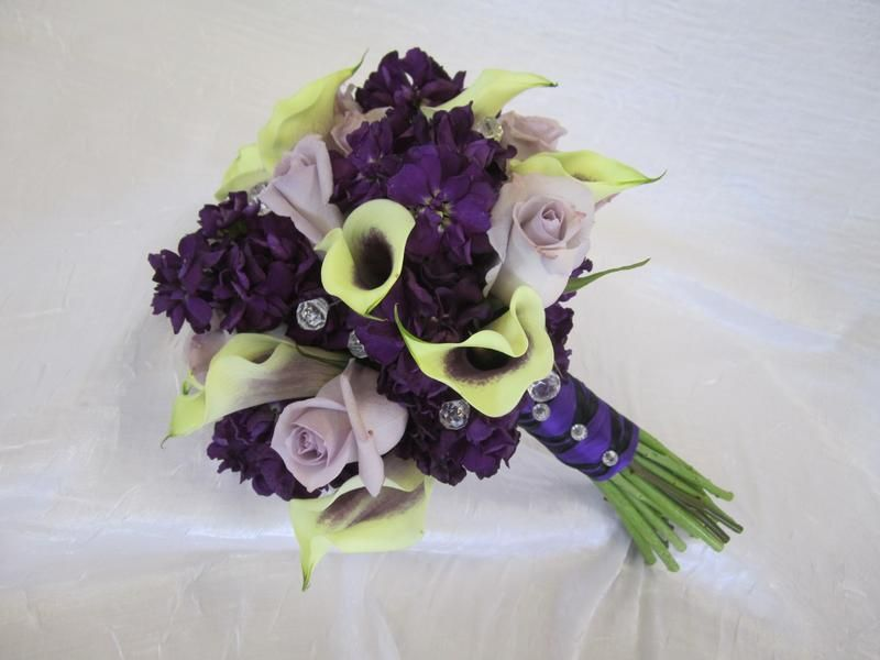 Some flower ideas, incorporating shades of purple...