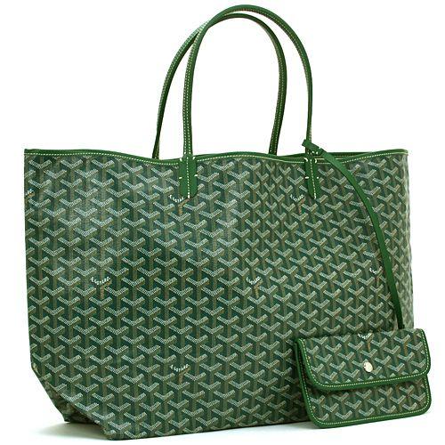 Goyard Saint Louis Tote Green Gm As Diaper Bag