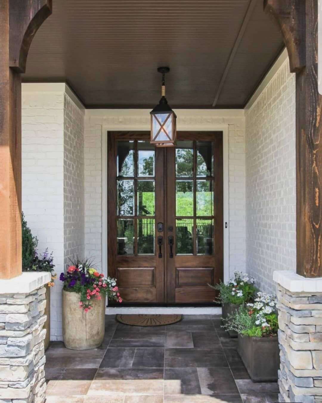 """21 Cool Front Door Designs For Houses: Farmhouse Lookbook On Instagram: """"Almost Time To Spruce Up"""