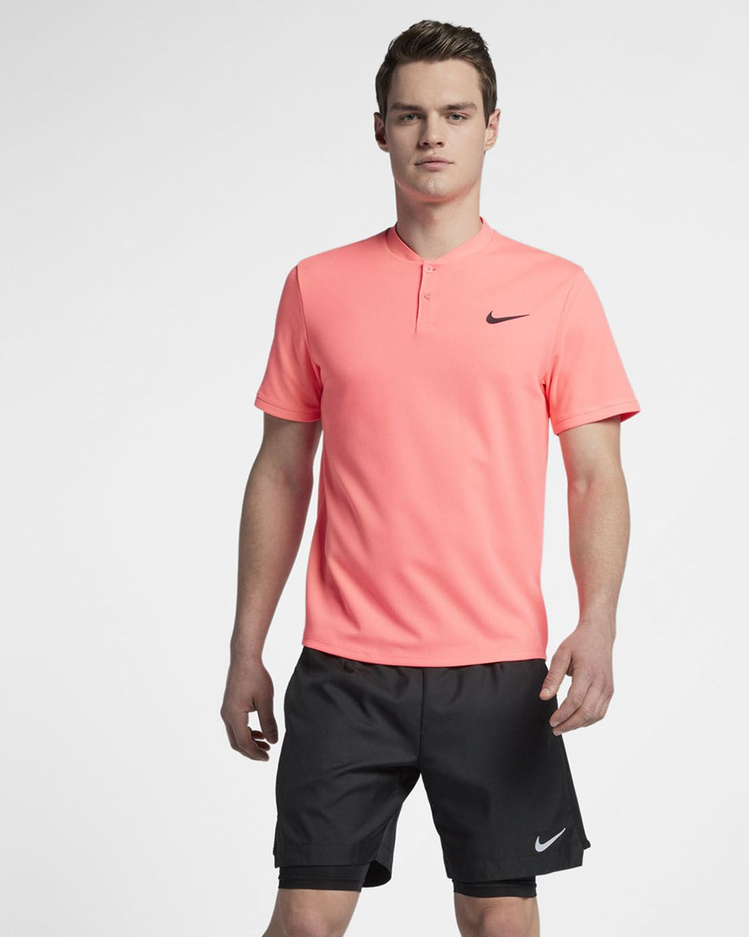 This Nike Court Advantage Polo In Lava Glow Is Just One Of The New Colors From Nike S Spring 2018 Tennis Apparel Collection Tennis Clothes Mens Tennis Nike Men